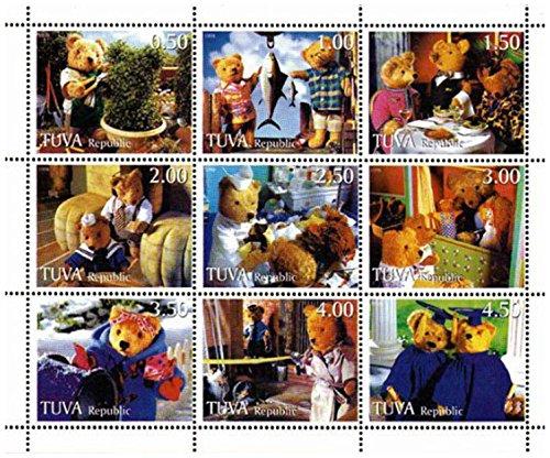 Stamp Teddy Bear da Collezione - La famiglia di orsacchiotto - 9 Francobolli per la raccolta - Unmounted e unhinged