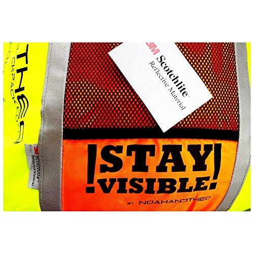61%2BVnGx%2BTOL. SS500  - Noah And Theo STAY VISIBLE Reflective High Viz Waterproof Cycling Backpack Rucksack Pannier Bag Rain Cover with 3M…