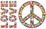 Autoaufkleber, Blumendesign: Love and Peace 07