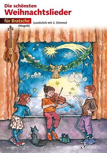 Die schönsten Weihnachtslieder: sehr leicht bearbeitet. 1-2 Violen.