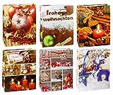 TSI 87316 Geschenkbeutel Weihnachten Serie 6, 12er Packung, Größe: Groß (32 x 26 x 13,5 cm)