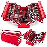 Greencut TOOLS-118 - Set de herramientas (118 piezas), caja de aluminio, herramientas de acero cromo vanadio