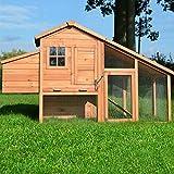 Zooprimus Hühnerstall 144 Geflügelhaus - Komfort - Stall für Außenbereich (für Kleintiere: Hühner, Geflügel, Vögel, Enten usw.)
