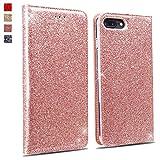 OKZone Coque iPhone 8 Plus/iPhone 7 Plus, Luxe Bling en Cuir PU Premium Housse...