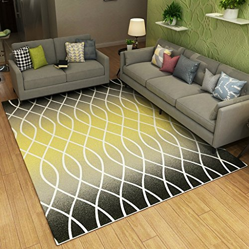 rakter abstrakter Kunst-Teppich, Milben-Freies Handwerk, Wohnzimmer-Schlafzimmer-Studien-Teppich, Maschinen-waschbar ( Color : C-140*200cm ) (Kunst Und Handwerk, Teppich)