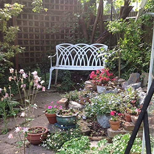 Lazy Susan – APRIL Gartenbank aus Aluminium, Weiß - 4