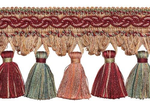 Rot, Light Rose 10,2cm Barock Quaste Fransen Stil # tfb1Farbe: Rose Bouquet-7953(Verkauft von der Hof) -