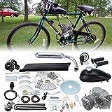Ambienceo 80cc 2 tiempos Ciclo de pedal Gasolina Gas Motor Kit de conversión de bicicleta para bicicleta motorizada Plata