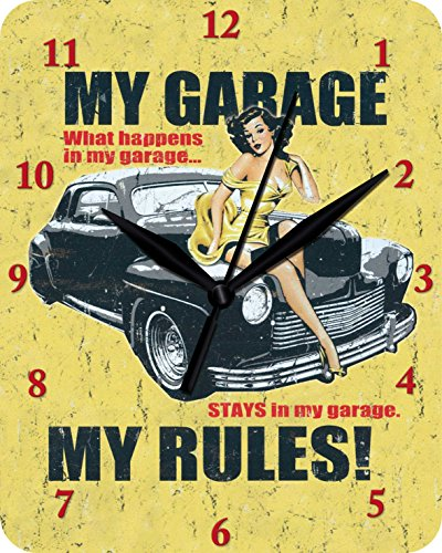 Reloj De Pared My Garage My Rules Reloj Clock inodoro 93