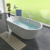 Design Acryl Badewanne / Freistehende Standbadewanne / Badezimmermöbel / 1800 x 840 x 540