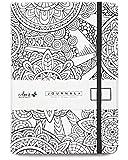 Colorit Cercle ordinateur portable Journal 14,7x 20,8cm, A5, 160pages Dot Grid, couverture rigide, bande élastique, poche intérieure, Marque-page, Pages perforées, parfait Bullet Journal