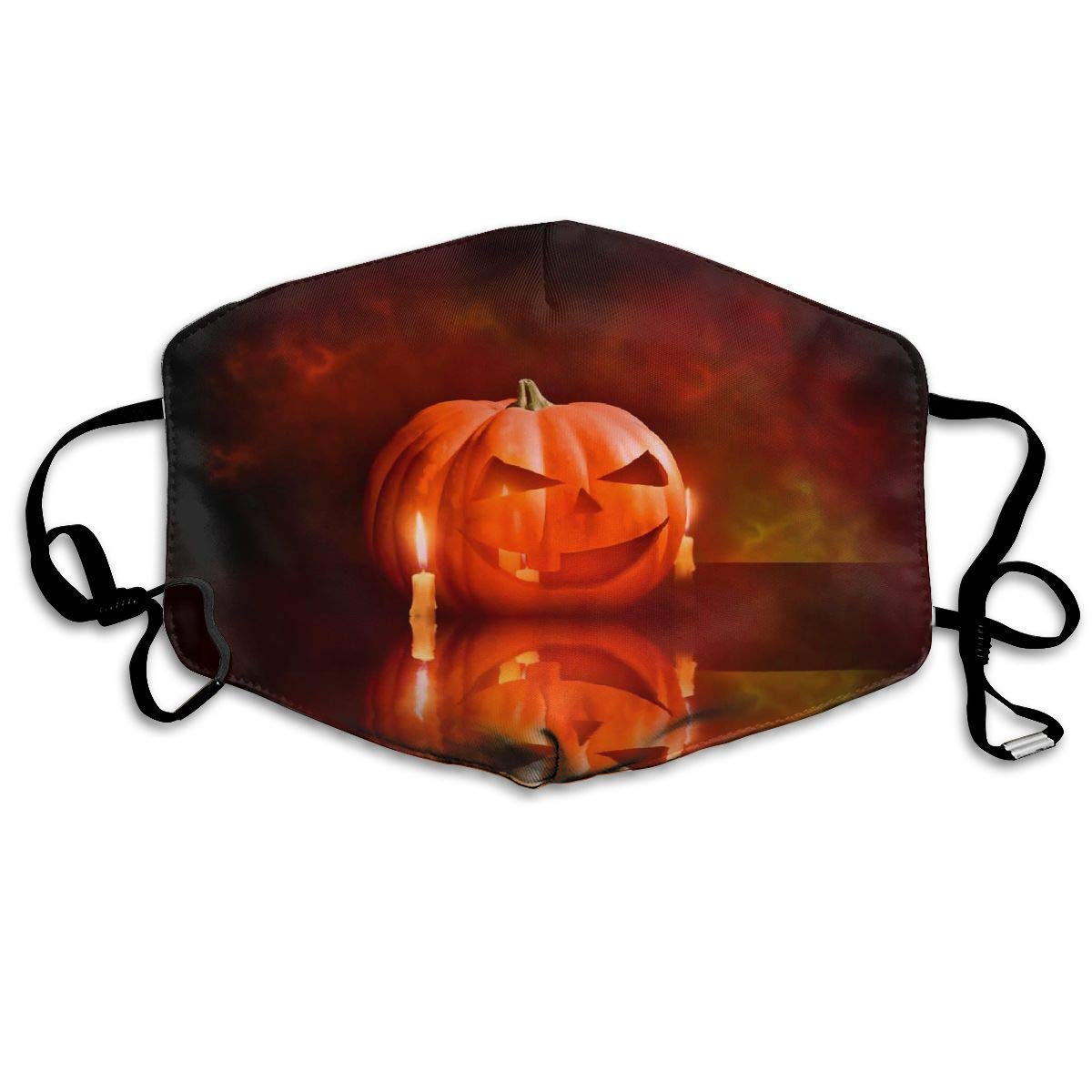 Daawqee Máscara de Boca, Antipolvo Cubierta de Boca Happy Halloween Print Reusable Washable Earloop Máscara de Boca for Men Women