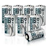 Olight 16340 CR123A Batterie Lithium 3V 1600mAh für Olight Taschenlampe S1 Baton/S10R Baton II/S2 Baton Series und andere Geräte wie Kameras - 8-er Pack (Original)