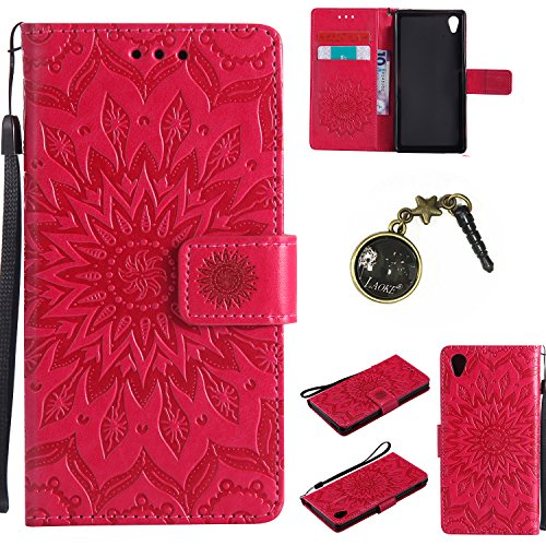 Preisvergleich Produktbild PU Silikon Schutzhülle Handyhülle Painted pc case cover hülle Handy-Fall-Haut Shell Abdeckungen für Sony Xperia M4 Aqua +Staubstecker (6FF)