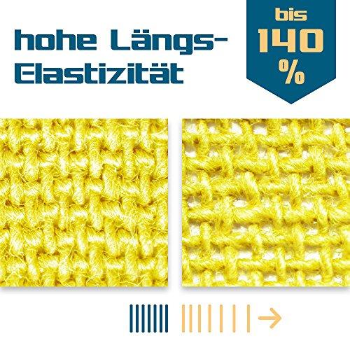 SL StarTape Kinesiologie Tape 6er Set inklusive Schere - Sporttape Rollen 5 cm breit und 550 cm lang - Pflaster Tapes - 3