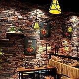 SISANLAI 3D Retro Brick Textur wallpaper Stein Brick Bar Restaurant Cafe Shop Tapeten, 9,5 * 0,53 M literarische Persönlichkeit.