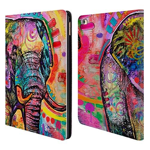 Ufficiale Dean Russo Elefante Fauna 2 Cover a portafoglio in pelle per Apple iPad Air 2