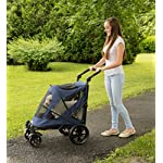 Pet Gear No-Zip Excursion Zipperless Entry Pet Stroller for Single or Multiple Pets, Candy Red 11