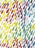 Taschenkalender Big Watercolours - mit Magnetverschluß - Kalenderbuch A5-14 Monate - Kalender 2019 - teNeues-Verlag - Taschenplaner mit Lesebändchen und Zetteltasche - 16 cm x 22 cm