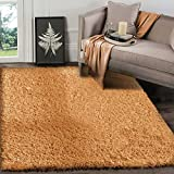 A2Z Rug (120x170 cm (4ft x 5ft8) Salmon) Cozy Shag Collection Solid 5.5 cm Pile Shag Rug Contemporary Living & Bedroom Soft Shaggy Area Rug, Carpet