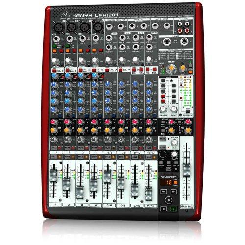 Behringer UFX 1204 - Mesa de mezclas analógica, procesador de FX dual con 16 presets editables y función tap