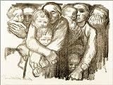 Leinwandbild 80 x 60 cm: Mütter von Käthe Kollwitz/akg-Images - fertiges Wandbild, Bild auf Keilrahmen, Fertigbild auf Echter Leinwand, Leinwanddruck