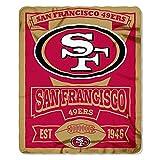 San Francisco 49ers Fleece Blanket Throw, Marquee Design