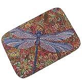Gnzoe Flanell Teppich Libelle Schmetterling Drucken Muster Design Teppiche für Flur Schlafzimmer Bunt 45x70CM