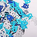 D DOLITY Glitzer Konfetii Tischkonfetti Streudeko Streuartikel für Jede Anlässe, aus Mettalic - Blau+Silber 18 - 2