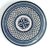 Orientalischer Teller Fes Beldi 18cm | bunte marokkanische Keramik Teller bunt aus Marokko | Große Keramikschalen flach Geschirr aus dem Orient handbemalt