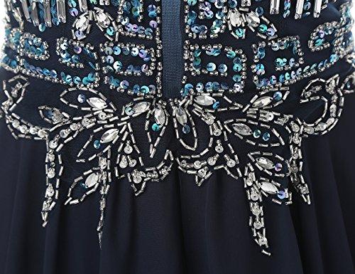 Dresstells, Robe de soirée Robe de cérémonie Robe de gala emperlée dos nu traîne moyenne Corail