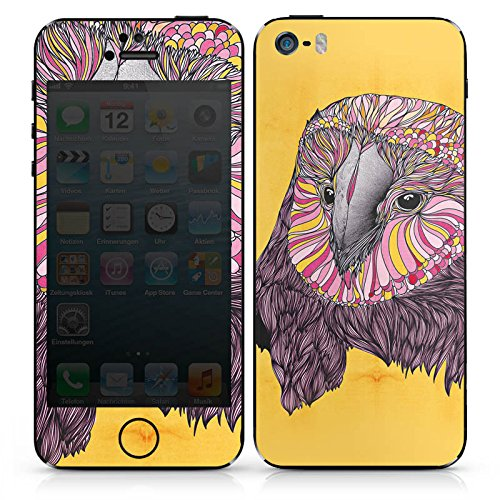 Apple iPhone SE Case Skin Sticker aus Vinyl-Folie Aufkleber Eule Uhu Owl DesignSkins® glänzend
