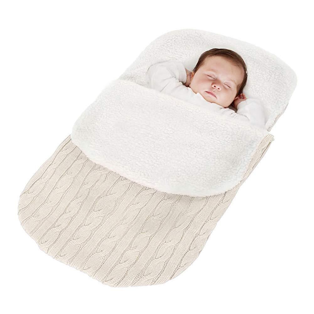 24 Meses para Cochecito Footmuff Invierno Caliente C/ómodo Asiento de Beb/é Minetom Saco de Dormir de Punto Felpa para Beb/é Reci/én Nacido de 0