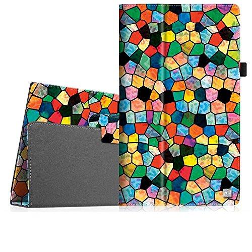 Fintie Medion Lifetab X10313 X10311 X10302 S10351 S10352 Hülle - Folio Kunstleder Schutzhülle mit Ständerfunktion & Stylus-Halterung für 10.1