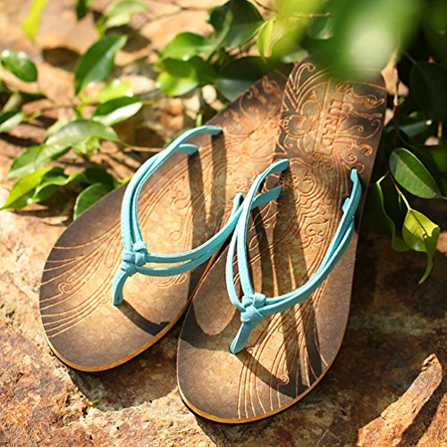 Baymate Donna Infradito Vacanza Spiaggia Pantofole Sandali Antiscivolo Blu