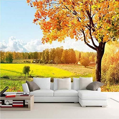 Mkkwp Benutzerdefinierte 3D Fototapete Goldener Herbst Baum Natur Landschaft Fotografie Hintergrund Wand Dekor Wandbilder Tapete Für Wohnzimmer-450Cmx300Cm