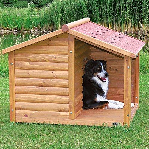 Cuccia baita per cani con terrazza coperta realizzata in for Cuccia cane ikea prezzo
