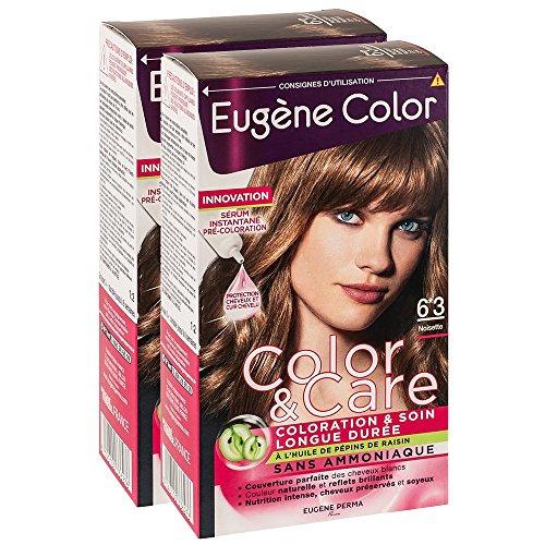 Eugène Color Coloration 6.3 Noisette 6 ml - Lot de 2