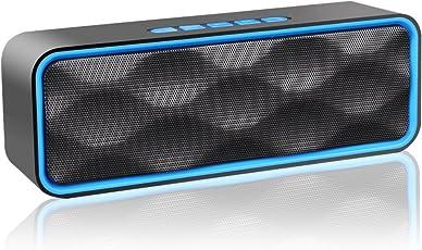ZoeeTree S1Altoparlante Bluetooth, Speaker Portatile per Esterni, Vivavoce Integrato con Doppio Driver Cassa, Audio HD e Bassi Potenziati, Chiamata Senza Mani, Radio FM, Slot per Scheda TF