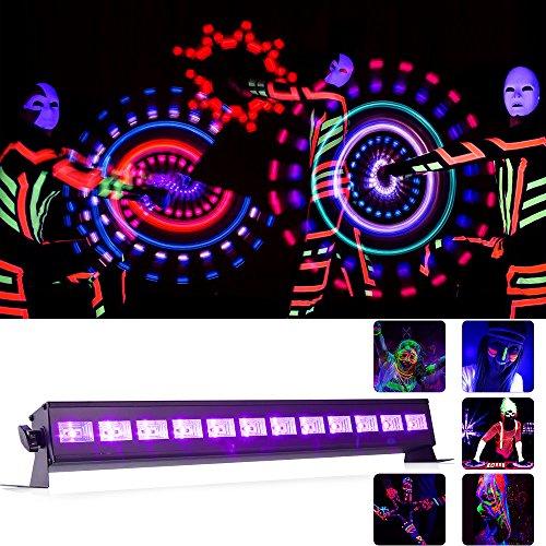 UV LED Strahler (12 LED*3W )Schwarzlicht Lichteffekt partylicht bühnenscheinwerfer Bühnenbeleuchtung für party deko, Konzert ,Pub Club,Oper
