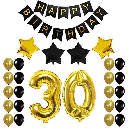 Senoow30. Geburtstag Party Dekoration Sets Anzahl Ballons 30 Jahre Alt Party Supplies