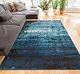 "Longlac Blue Vintage Stripe Modern Casual 100 x 140 cm ( 3'3"" x 4'7"" ft ) Area Rug Thick Soft Plush Shed Free"