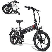 SAMEBIKE 20 Zoll Elektrofahrrad mit 350 W 48 V 10 Ah Lithiumbatterie Faltbares Elektrofahrrad E-Bike für Erwachsene