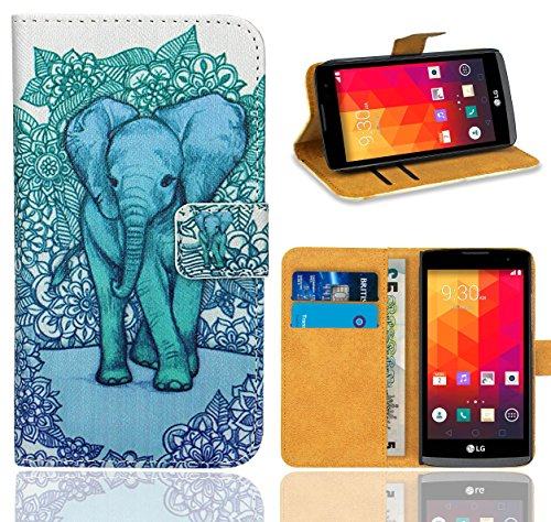 FoneExpert® LG Spirit 4G Handy Tasche, Wallet Case Flip Cover Hüllen Etui Ledertasche Lederhülle Premium Schutzhülle für LG Spirit 4G (Pattern 13)