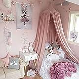 Kids Baby Betten rund Dome Betthimmel Netz für Feldbett Moskitonetz Vorhang Dome Princess KOMPAKT und leicht