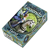 Fournier Tarot Legends por Anne Stokes Baraja de Cartas, Color Verde (1031264)