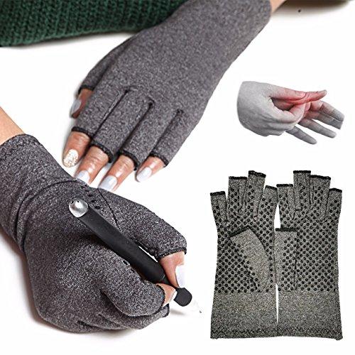 FITTOO Kompression Anti-Arthritis Handschuhe (Paar) für Damen und Herren - für Blutzirkulation, Schmerz-linderung, Heilung zu fördern...