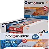 Maximuscle Cyclone High Protein and Creatine Bar, 60 g - Chocolate Caramel, Pack of 12