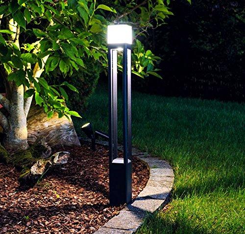 LED Wegeleuchte Milan 80cm dunkelgrau 11,8W 6500 K 10759 - Stehleuchte Diffusor