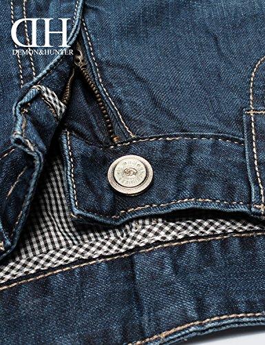 Demon&Hunter Uomo Gamba dritta Blu Jeans S80L5 Blu